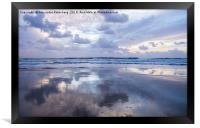 Water's edge reflection, Framed Print