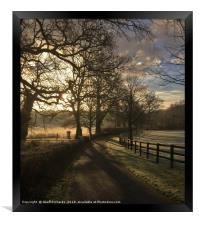 English Country Morning, Framed Print