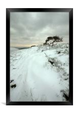 Quarry Hill Snowscape, Framed Print