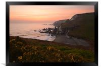 Westcombe Bay, Clifftop View., Framed Print