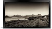 The Sound of Raasay and The Cuillin range., Framed Print