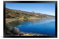 Blue skies over Dunn Caan, on the Isle of Raasay., Framed Print