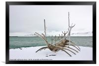 The Sun Voyager Sculpture, Reykjavic, Framed Print