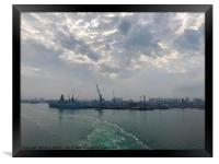 Early morning clouds at Portsmouth Harbour , Framed Print