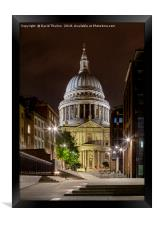 St Paul's Cathedral in London., Framed Print