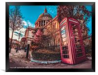 St Paul Cathedral HDR, Framed Print