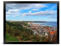 Cullen and its viaduct Moray, Scotland, Framed Print