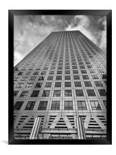 One Canada Square black and white, Framed Print