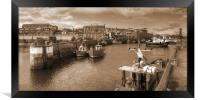 Fishing Boats at Seahouses Harbour - Panorama, Framed Print
