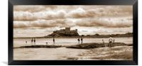 Storm clouds building over Castle - Panorama, Framed Print