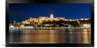 Panoramic view of the castle in Budapest, Framed Print