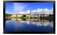 Confolens From Across the River Vienne, Framed Print