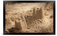 Sandcastles on the Beach, Framed Print