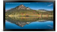 Obersee Reflections, Framed Print