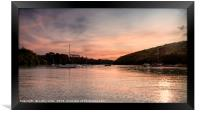 Helford  river Cornwall  at sunset, Framed Print