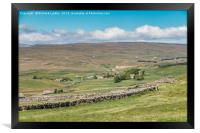 Over Langdon Beck to Harwood , Framed Print