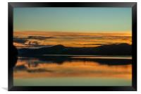 Sunset afterglow on Coniston Water, Framed Print