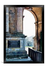 Town Entrance to Blenheim Palace, Framed Print