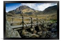 The Bridge to Tryfan, Framed Print