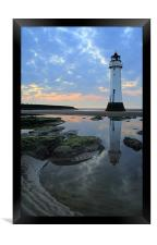 Lighthouse at Perch Rock, Framed Print