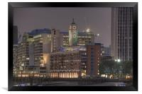 The Oxo Tower HDR version, Framed Print