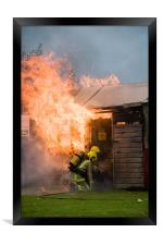 1 shed, well alight, Framed Print