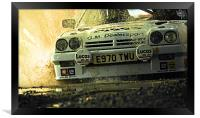 Opel Manta up close and personal, Framed Print