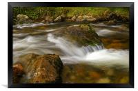 flowing river, Framed Print