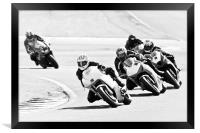 Motorcycles at Oulton Park Circuit, Framed Print