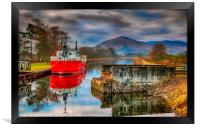 The Caledonian Canal Scotland, Framed Print