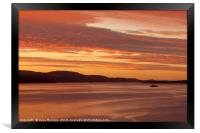 Bute Ferry at Sunset, Framed Print