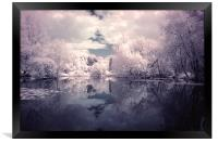 Lilac Reflections in Watermead Park, Framed Print
