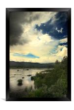 A storm is coming , Framed Print