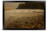 Dawn at Stonehaven, Framed Print
