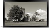 The Parish Church of St Andrew | B&W, Framed Print