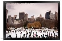 Skaters in Central Park NYC, Framed Print