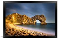 Durdle Door in colour, Framed Print