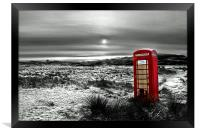 The Red Phone Box, Framed Print