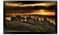 Sunset over Dunluce Castle, Framed Print