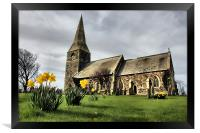 all saints parish church of mappleton, Framed Print