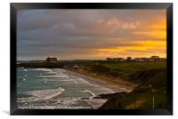 Fistral Beach Newquay, Framed Print