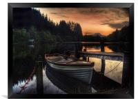 Golden Sunset over Loch Ard, Framed Print