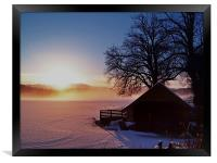 Sunburst Over Loch Ard, Framed Print