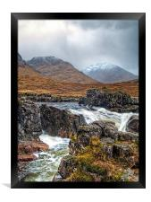 Winter Over The River Etive, Framed Print