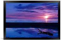 Sunset At Troon Beach, Framed Print