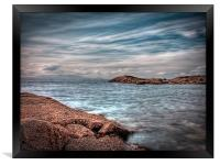 Isle of Arran from Troon, Framed Print