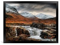 Glen Etive Waterfall, Framed Print