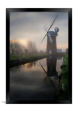 Reflecting on Horsey Mill, Framed Print