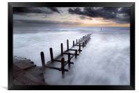 Grey Dawn at Overstrand, Framed Print