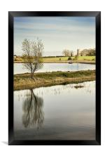 Tree and Church on the River Thurne, Framed Print